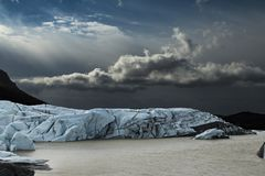 Iceland: landscapes, Glaciers and waterfalls royalty free stock photography
