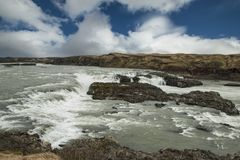 Iceland: landscapes, Glaciers and waterfalls royalty free stock image