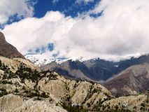 Landscapes on the way to Annapurna Circuit Royalty Free Stock Photography