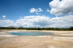 Landscapes of yellow stone national park Royalty Free Stock Photos