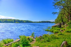 Landscapesee für die Fischerei lizenzfreie stockfotos