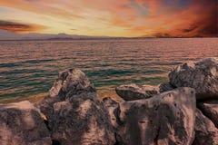 Landscapesee mit Wolke Lizenzfreies Stockbild
