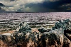 Landscapesee mit Wolke Stockbilder