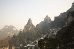 Landscapesikt av tien som är mansan på zhangjiajie Royaltyfri Fotografi