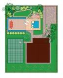 landscaping проект Стоковые Изображения RF