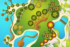 landscaping проект Стоковое Изображение