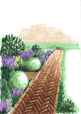 landscaping Путь к дому Стоковые Фото