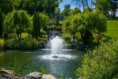 landscaping сада путь сада Красивейшая задняя часть Стоковое фото RF