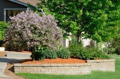 landscaping сохраняя стена стоковые фото