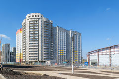 Landscaping of the adjacent territory near the construction site Stock Photography