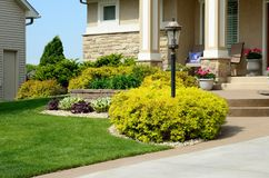 Landscaping And Retaining Wall Stock Photos