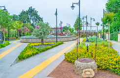Landscaping of Antalya parks Stock Photos
