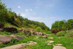 Landscaping, arboretum Sofievka Royalty Free Stock Images