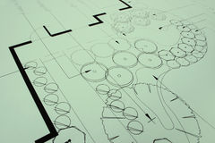 Landscaping blueprints 1. Closeup of green landscaping blueprints, as a photo or background. More in Portfolio Stock Photos
