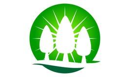 Landscaping Care taking Logo Design Template vector illustration