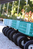Landscaping Carts. A row of landscaping carts lined up to carry plant selections Royalty Free Stock Image