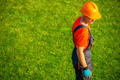 Landscaping Contractor Stock Image