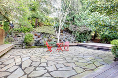 Landscaping design idea for back yard Stock Photography