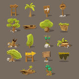 Landscaping Design Set. Of Flat Vector Icons For The Flash Game Design Stock Photo