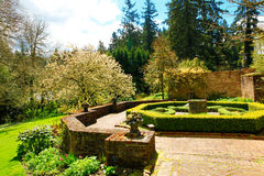 Landscaping desing, Historical Garden, Lakewood, WA Royalty Free Stock Photos