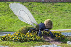 Landscaping. Figure bee in the park by the river Tsna Royalty Free Stock Photography