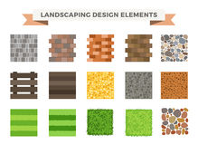 Landscaping garden design elements Royalty Free Stock Images