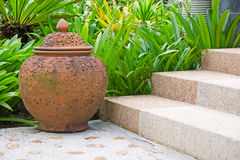 Landscaping in the garden Royalty Free Stock Photo