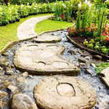 Landscaping in the garden Stock Image