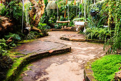 Landscaping in the garden. The path in the garden asian style Stock Images
