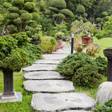 Landscaping in the garden. The path in the garden. Royalty Free Stock Images
