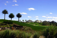 Landscaping at golf resort. Professional landscaping at a golf resort Royalty Free Stock Photos