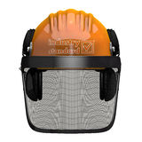 Landscaping Hard Hat with Visor Combo Stock Photos