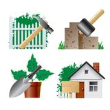 Landscaping icons stock illustration