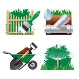 Landscaping icons royalty free illustration