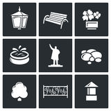 Landscaping icons. Vector Illustration Royalty Free Stock Photos