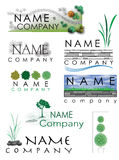 Landscaping logo. Logo set for landscaping or outdoors Stock Image