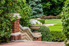 Landscaping at the Longview Estate Mansion Stock Photo