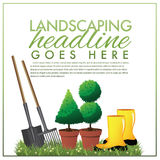 Landscaping marketing template Royalty Free Stock Photos
