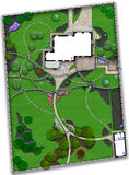 Landscaping master plan, 2d sketch Royalty Free Stock Photos