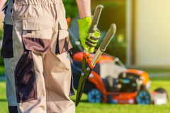 Landscaping Professional Royalty Free Stock Photo