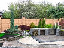 Free Landscaping Recreational Space Plant Groupings, 3D Render Integrated Into Environment Stock Image - 57576891
