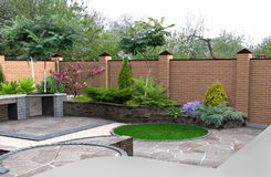Free Landscaping Recreational Space Plant Groupings, 3D Render Integrated Into Environment Royalty Free Stock Photo - 57577355
