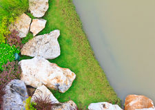 Landscaping with rock pool. Stock Images