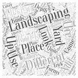 Landscaping Rock word cloud concept word cloud concept vector background Stock Photography