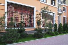 Landscaping in the Rosa Khutor Alpine Resort. Krasnaya Polyana Stock Image