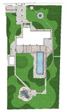 Landscaping site development master plan, 2D sketch Stock Photo