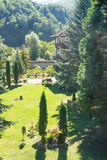Landscaping Troyan Monastery, Bulgaria stock image