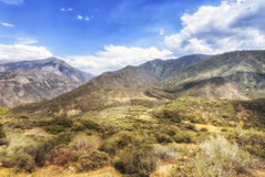 Landscaping view of King Canyon National Park, USA Royalty Free Stock Photo