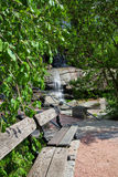 Landscaping with waterfall Stock Photos