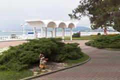 Landscaping waterfront resort town of Gelendzhik Stock Photography
